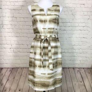 Tommy Bahama Ikat Stripe Linen Sleeveless Dress S